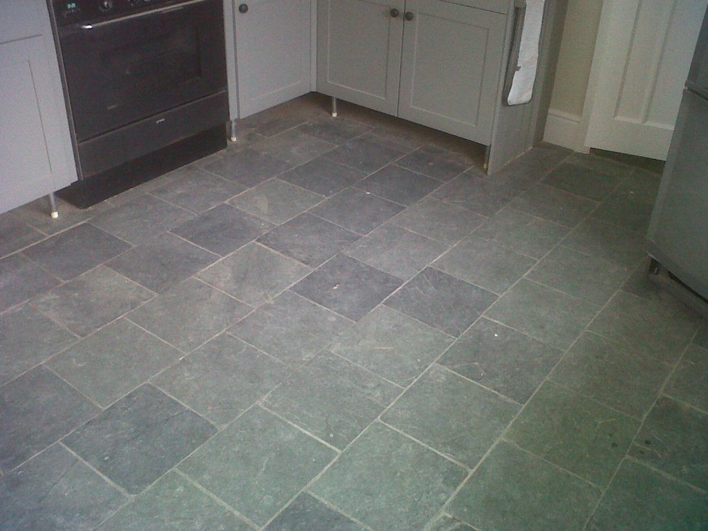 Black slate staffordshire tile doctor slate floor before cleaning dailygadgetfo Gallery