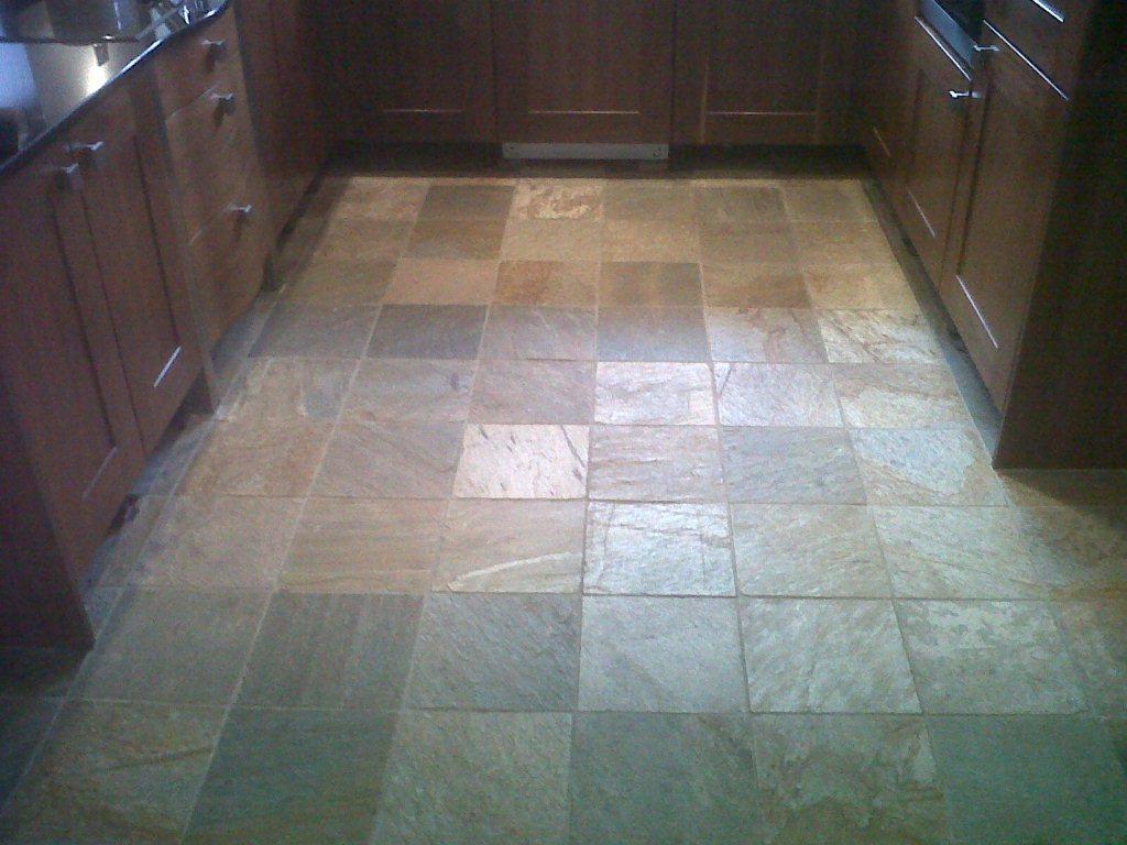 Slate Floor Before Cleaning