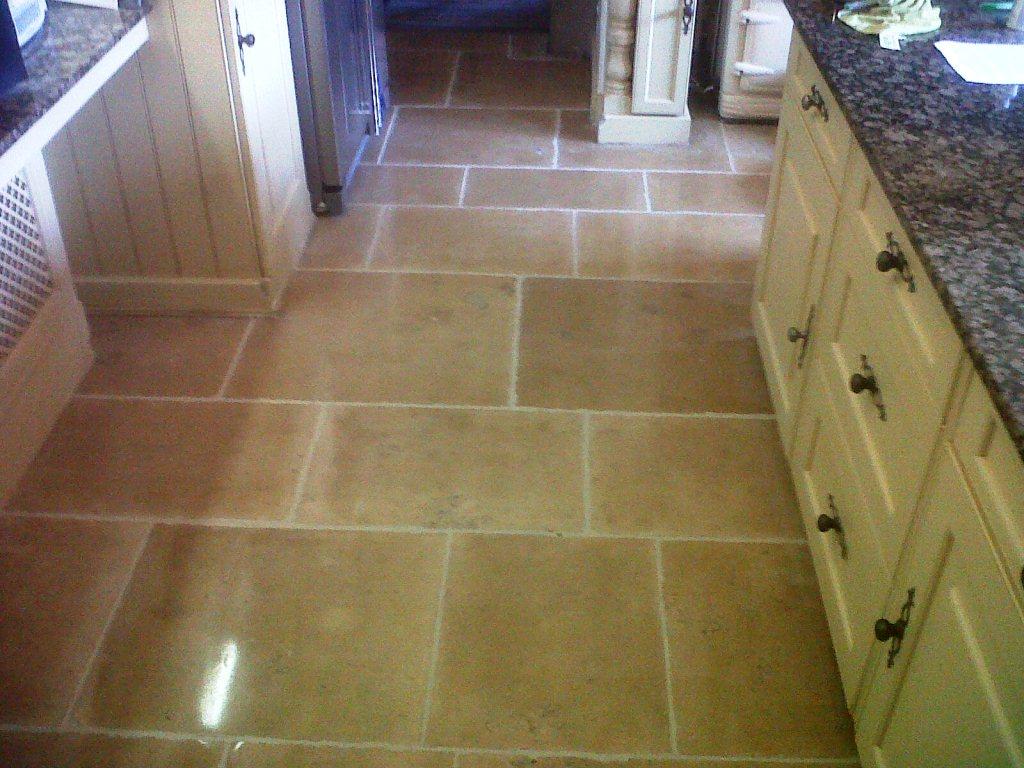Limestone Floor After