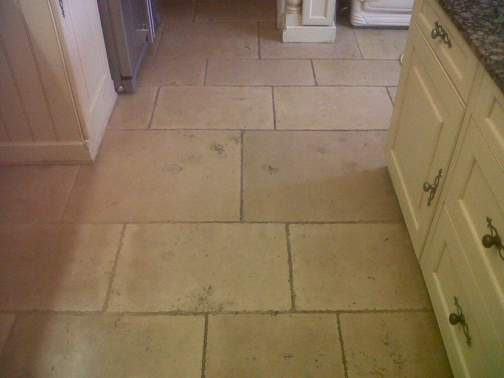 Limestone Floor Before