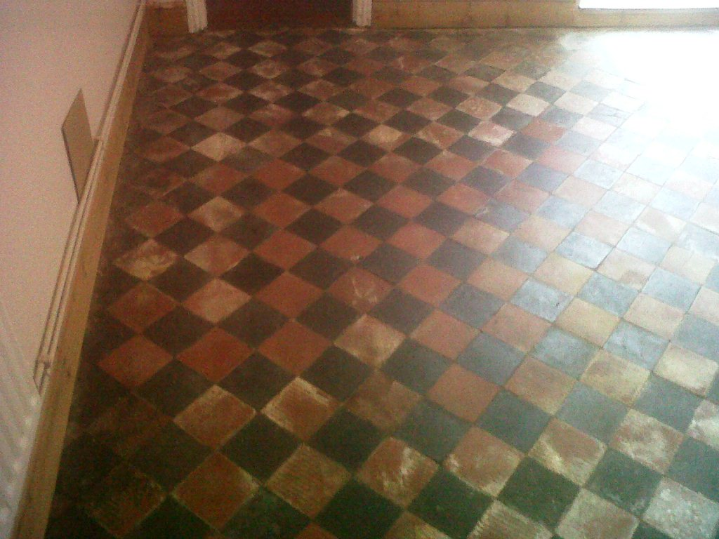 Red And Black Victorian Quarry Tile Quarry Tiled Floors Cleaning - How to clean marley floor