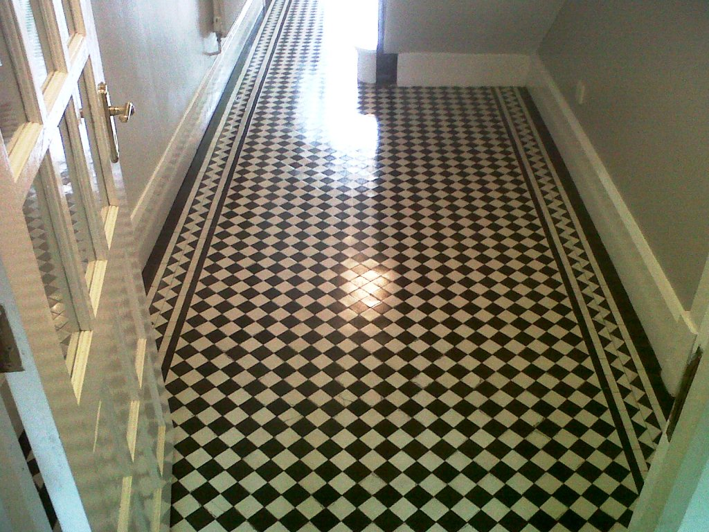 Victorian Tiled Floor After Cleaning