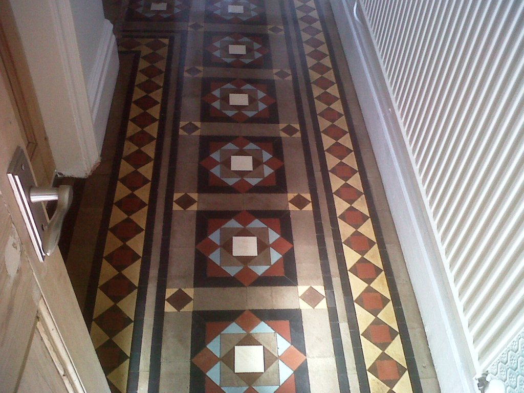Victorian tiled hallway restoration in sutton coldfield victorian tiles sutton coldfield after restoration doublecrazyfo Gallery