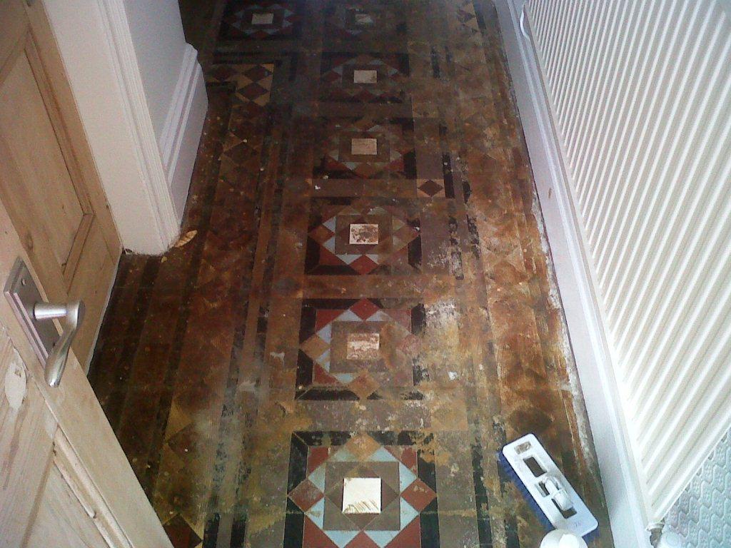 Victorian Tiles Sutton Coldfield Before Restoration