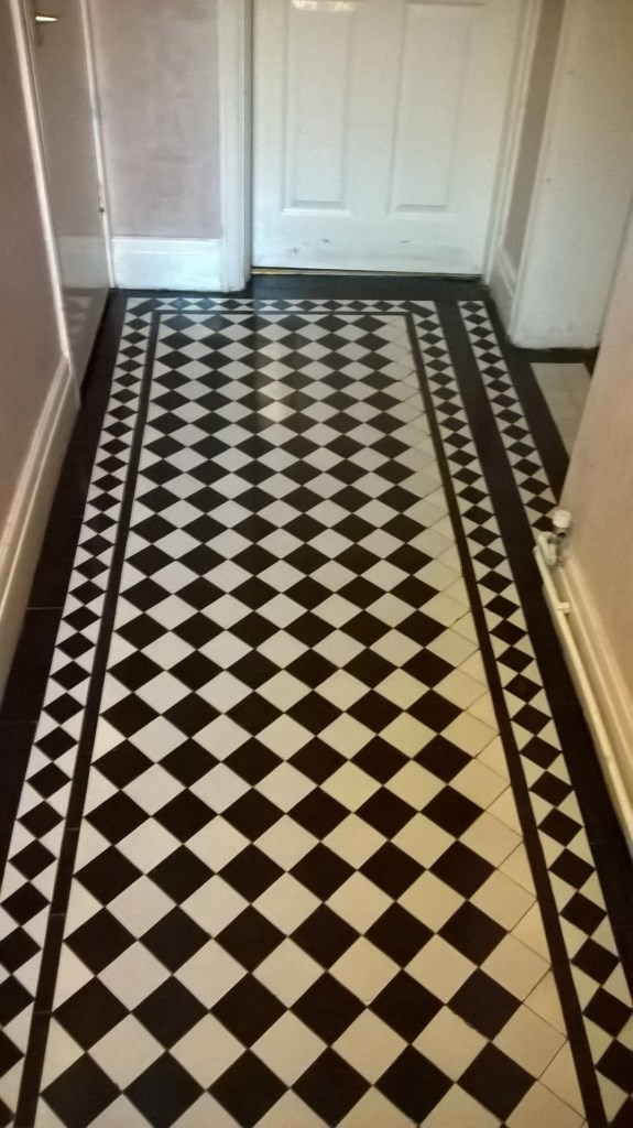 Victorian Tiled Floor After Cleaning in Stoke-on-Trent