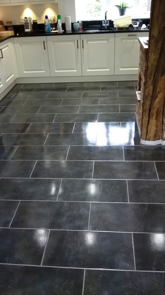 Slate Tiles in Burton on Trent After Cleaning