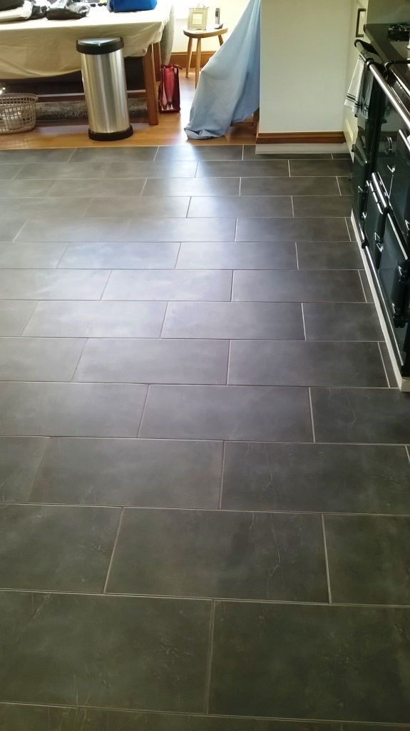 Slate Tiles in Burton on Trent Before Cleaning