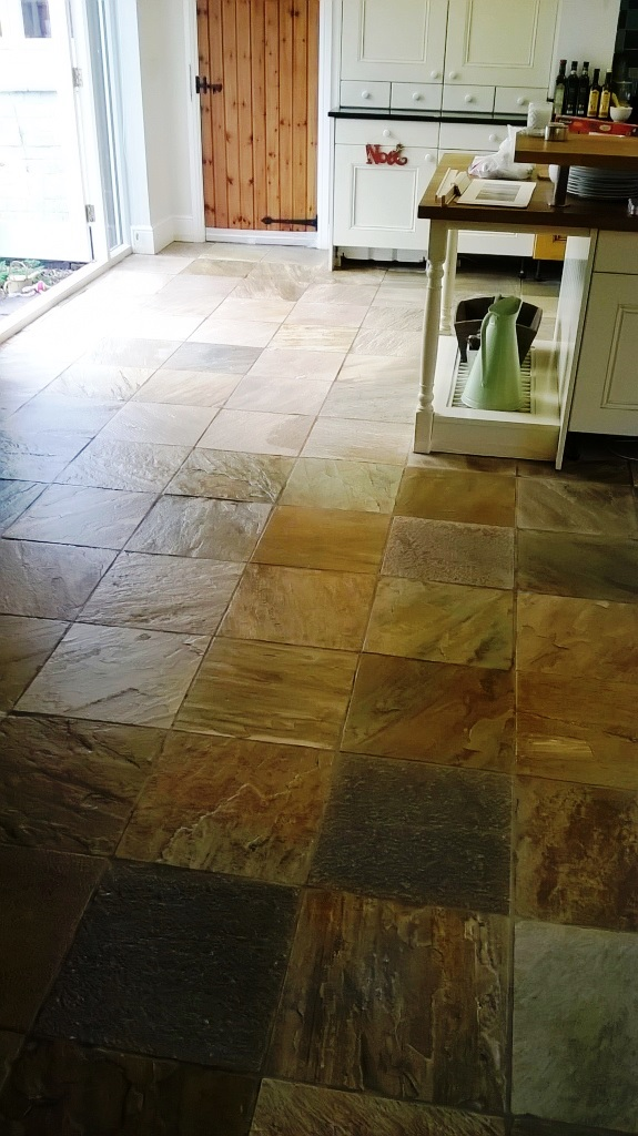 Slate Tiled Floor After Cleaning Burton-on-Trent