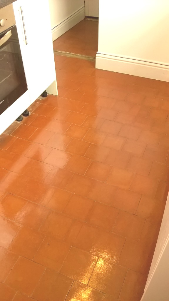 Kitchen Quarry Tiles After Restoration Stoke-on-Trent