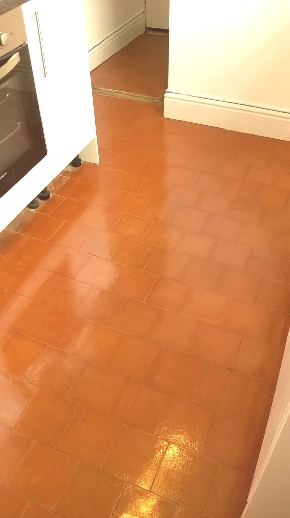 Kitchen Quarry Tiles After Restoration Stoke-on-Trent