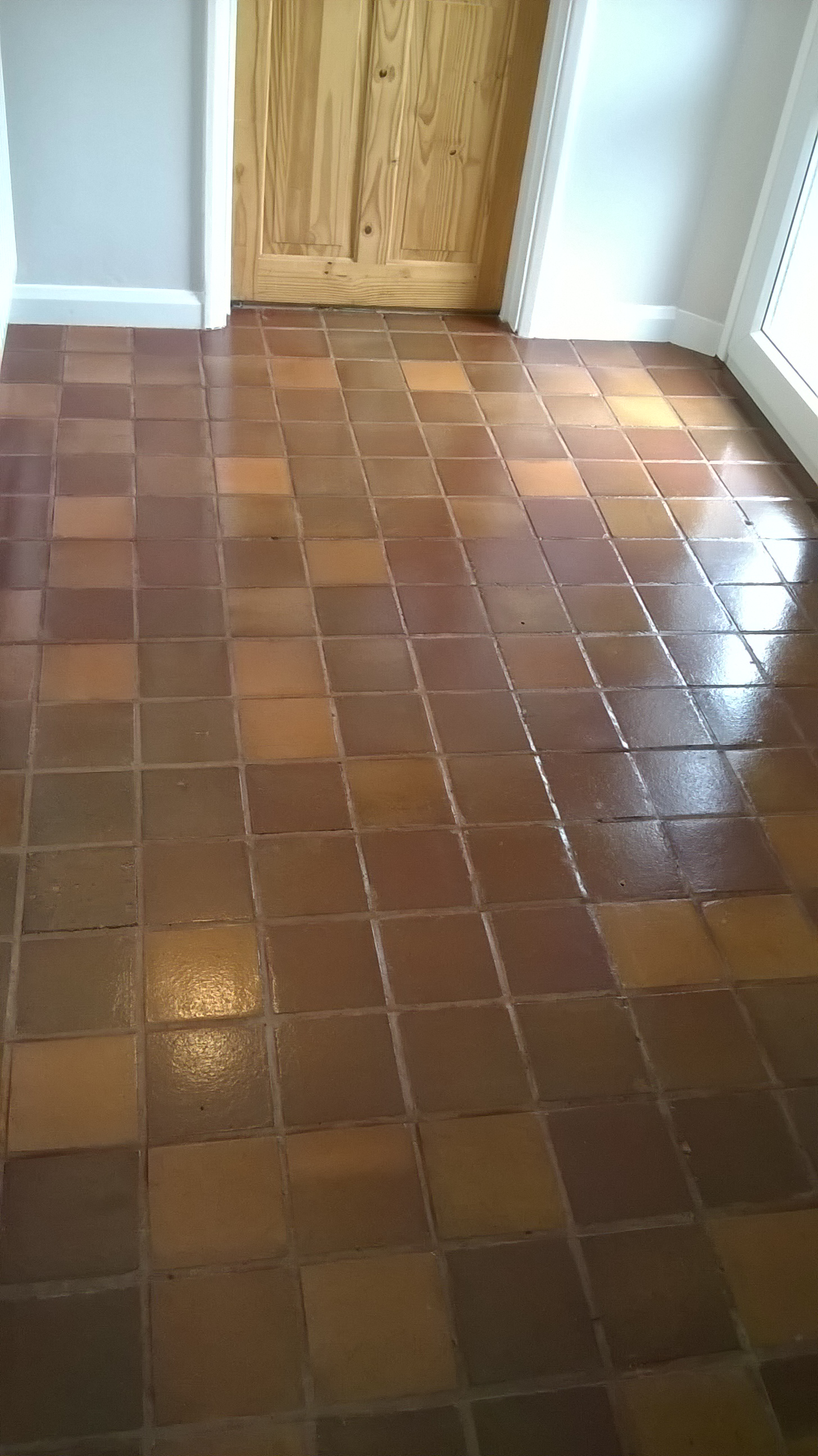 Quarry Tiled Kitchen After Cleaning in Tutbury Burton on Trent