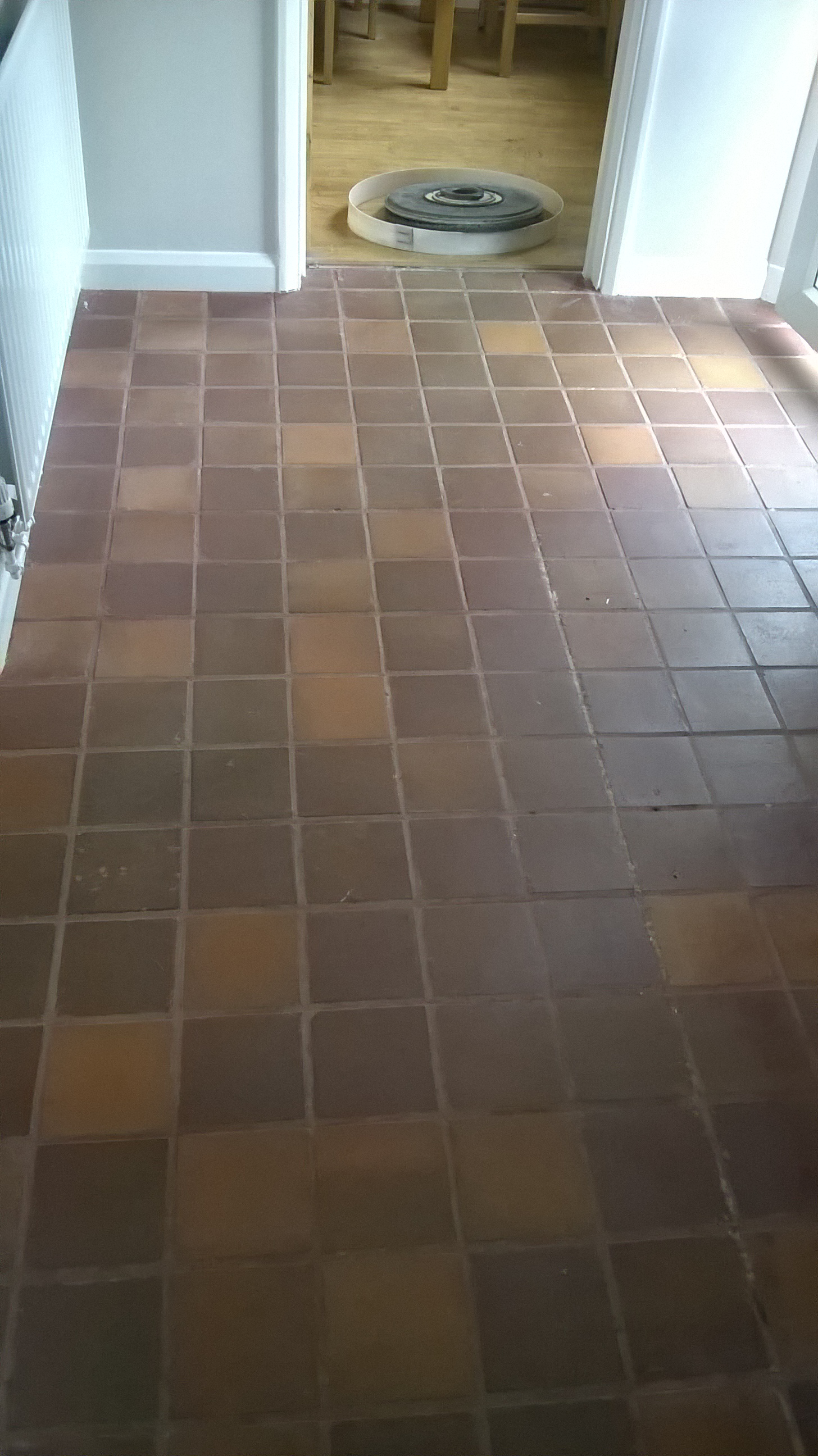 Quarry Tiled Kitchen Before Cleaning in Tutbury Burton on Trent