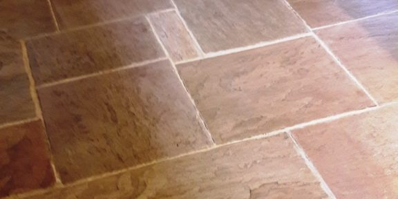 Rejuvenating a Sandstone Tiled Floor at a Barn Conversion in Rugeley