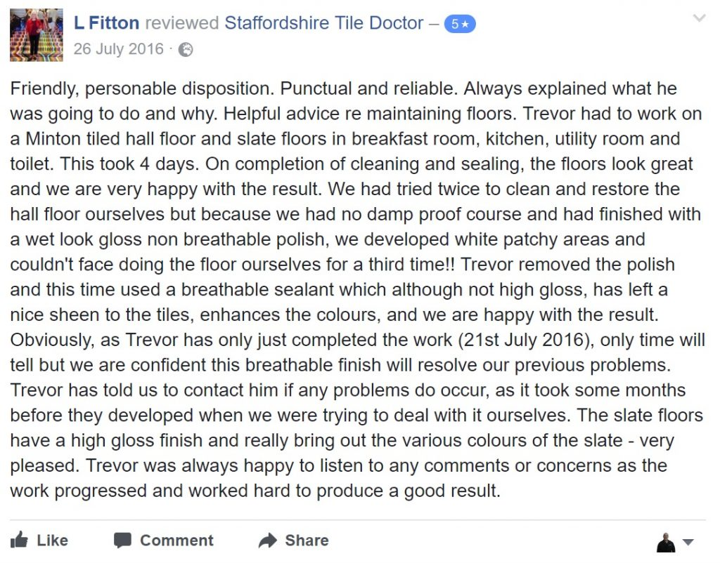 Facebook Review from L Fitton