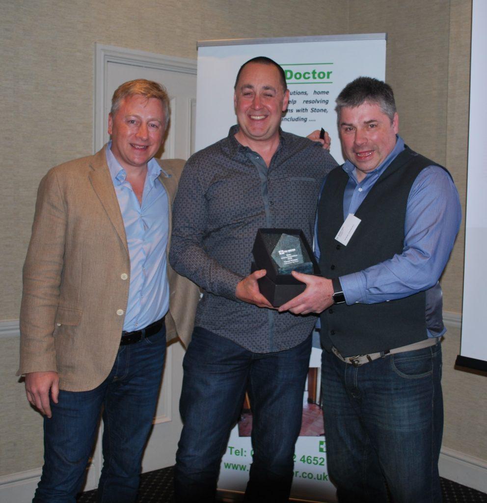 Presenting Trevor Preece with the Tile Doctor 2016 Best Reputation Award