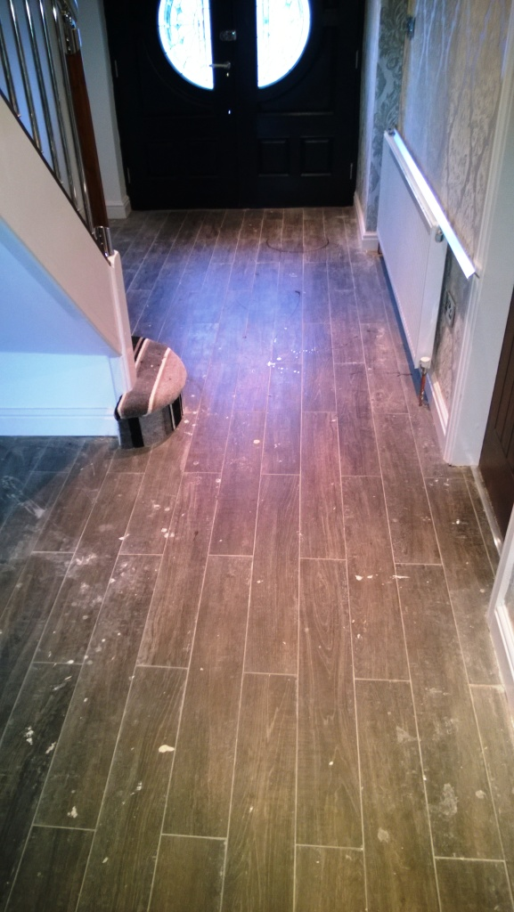 Cleaning Wood Effect Porcelain Tiles After Building Works In