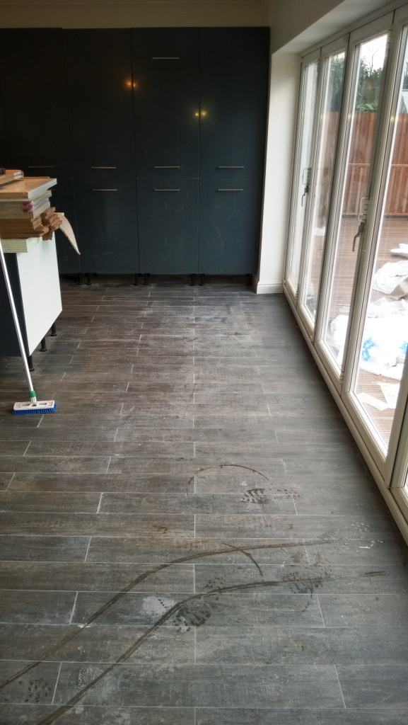 Wood Effect Porcelain Lichfield Before Cleaning