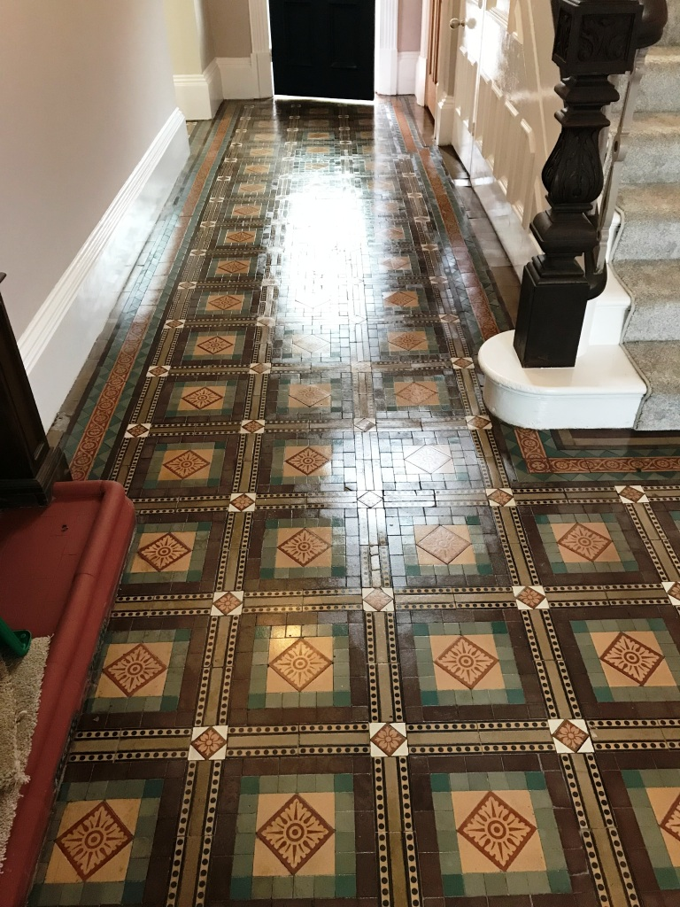 Old Victorian Tiled Floor Sutton Coldfield Vicarage After Sealing