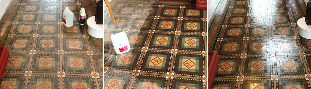 Victorian Tiled Vicarage Floor Restored in Sutton Coldfield