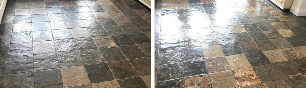 Renovating a Beautiful Slate Tiled Kitchen Floor in Sutton Coldfield