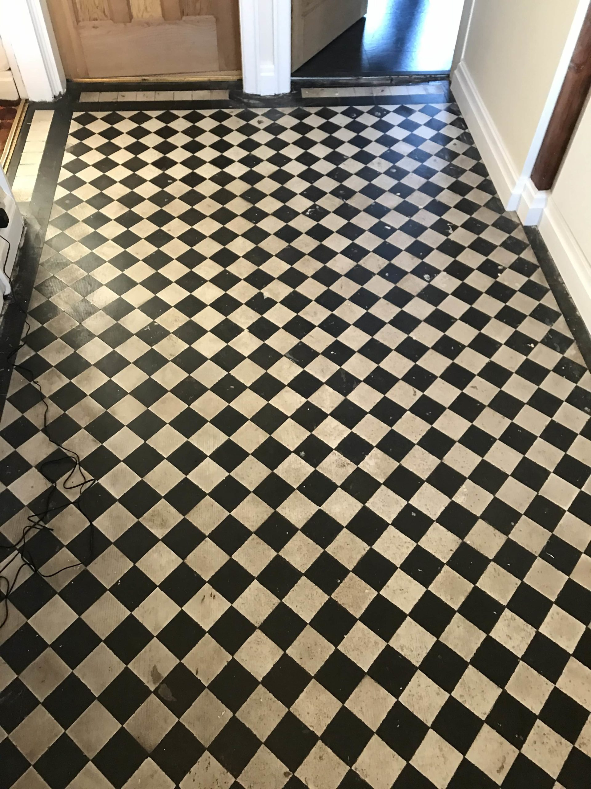 Victorian Floor Before Cleaning Sealing Stoke-on-Trent