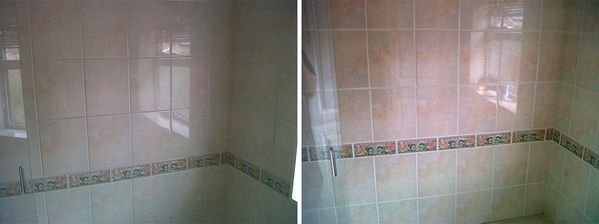 Changing the Grout Colour of a Tiled Shower Cubicle in Birmingham