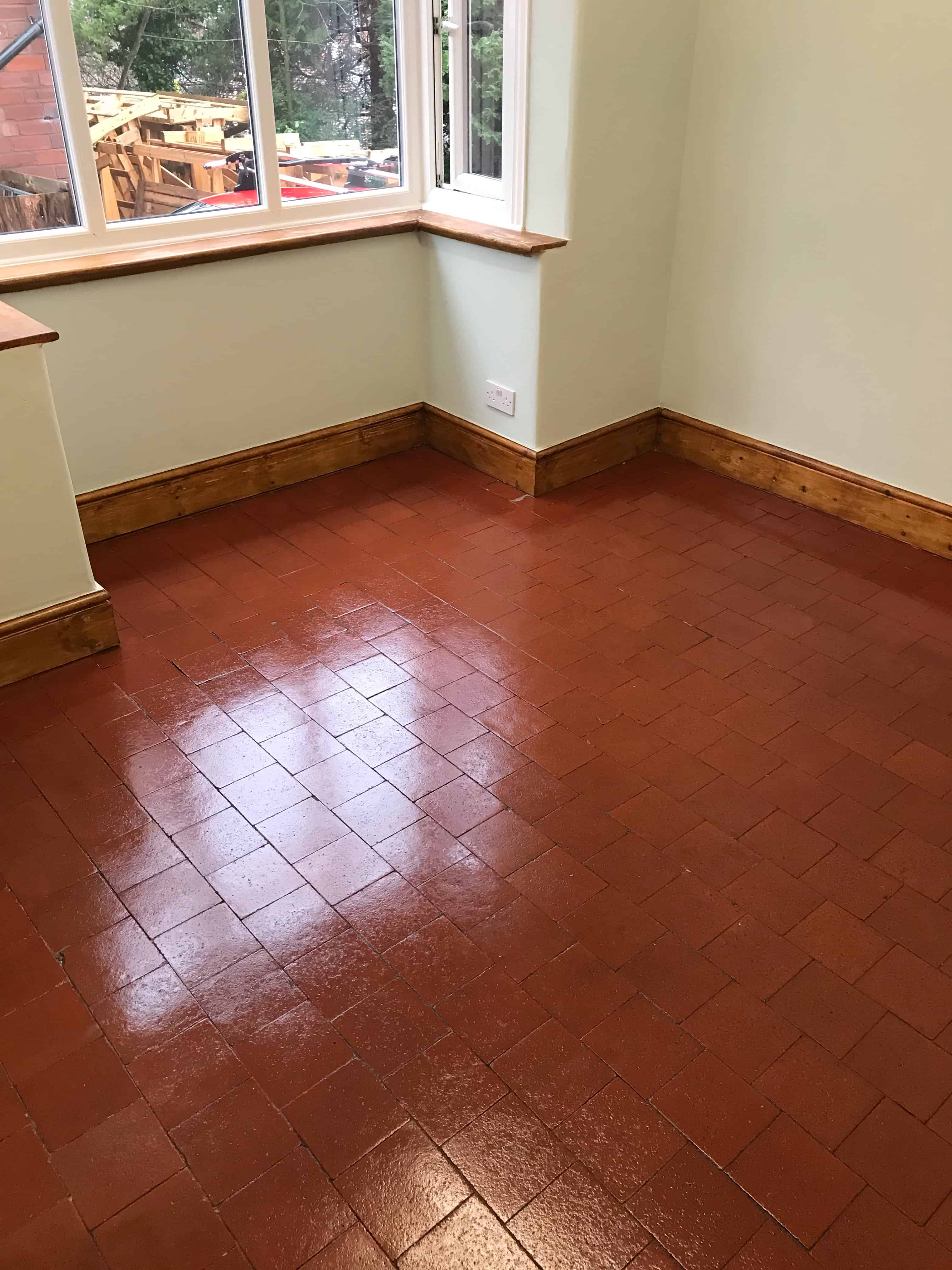 Quarry Tile Floor After Cleaning Sealing Stafford