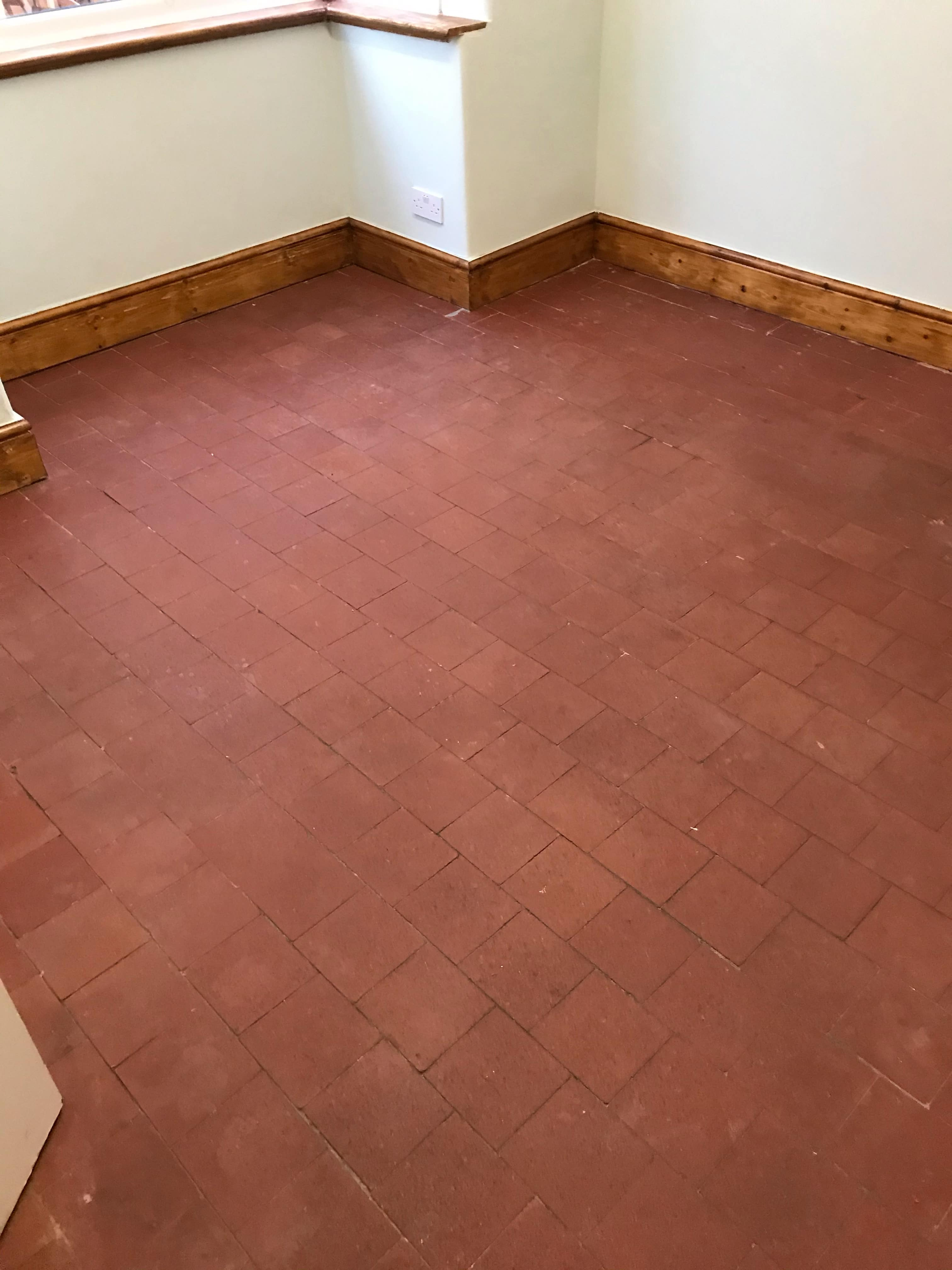 Quarry Tile Floor Before Cleaning Stafford