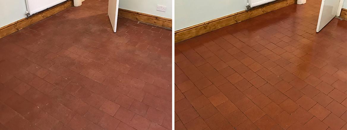 Quarry Tiled Floor Repair and Renovation in Stafford